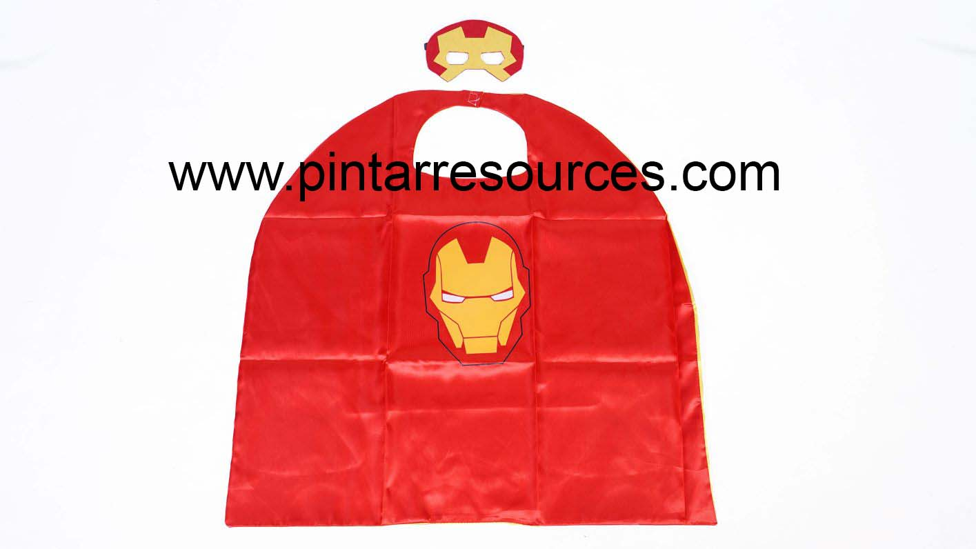 Iron Man Mask & Cape-3