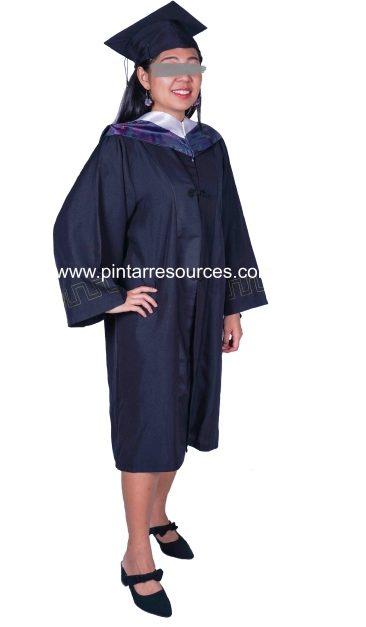 Graduation Gown & Bouquet